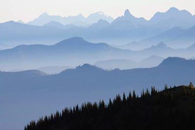 Moody Cloudy Large Print Wall Art Nature North Carolina Infinite Mountains Landscape Photograph Highlands Peak Range Foothills