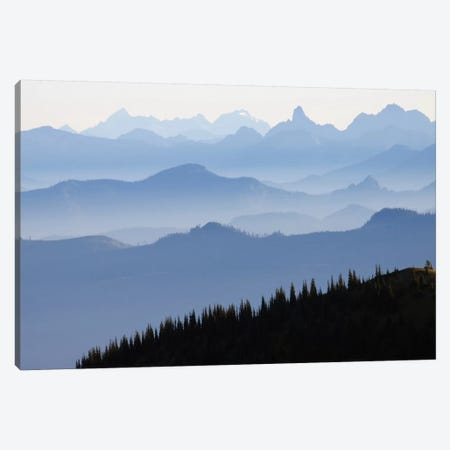 Foggy Mountain Landscape I, Cascade Range, Mount Rainier National Park, Washington, USA Canvas Print #CHE1} by Ken Archer Canvas Art