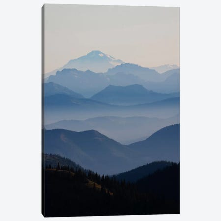 Foggy Mountain Landscape II, Cascade Range, Mount Rainier National Park, Washington, USA Canvas Print #CHE2} by Ken Archer Canvas Wall Art