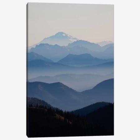 Foggy Mountain Landscape II, Cascade Range, Mount Rainier National Park, Washington, USA Canvas Print #CHE2} by Ken Archer Canvas Wall Art