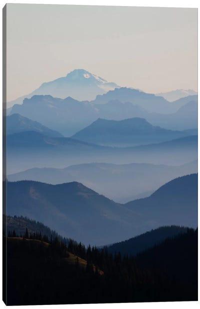 Foggy Mountain Landscape II, Cascade Range, Mount Rainier National Park, Washington, USA Canvas Art Print