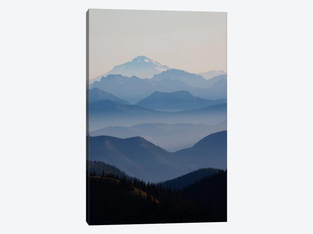Foggy Mountain Landscape II, Cascade Range, Mount Rainier National Park, Washington, USA by Ken Archer 1-piece Art Print