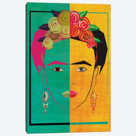 Frida I Canvas Print #CHH10} by Chhaya Shrader Canvas Art Print