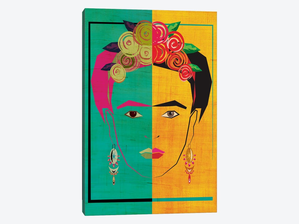 Frida I by Chhaya Shrader 1-piece Canvas Art