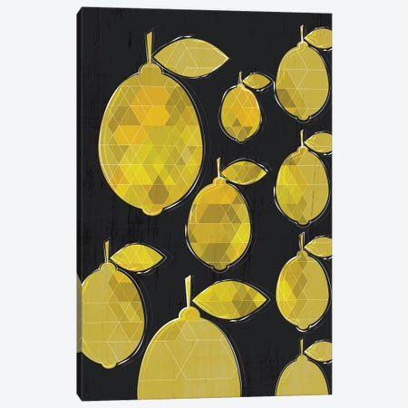 Lemons Canvas Print #CHH18} by Chhaya Shrader Canvas Art Print
