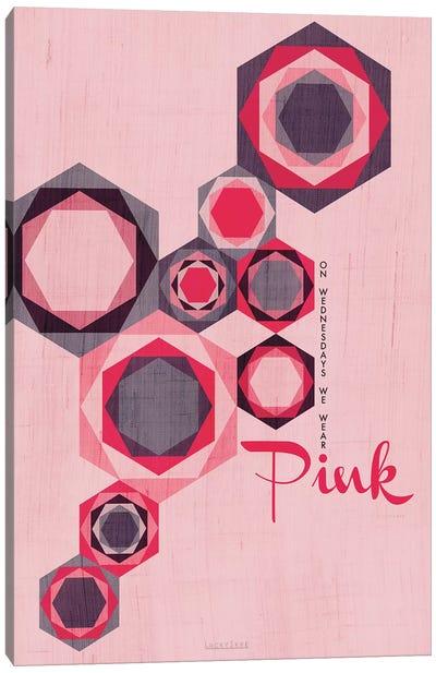 On Wednesdays We Wear Pink Canvas Art Print