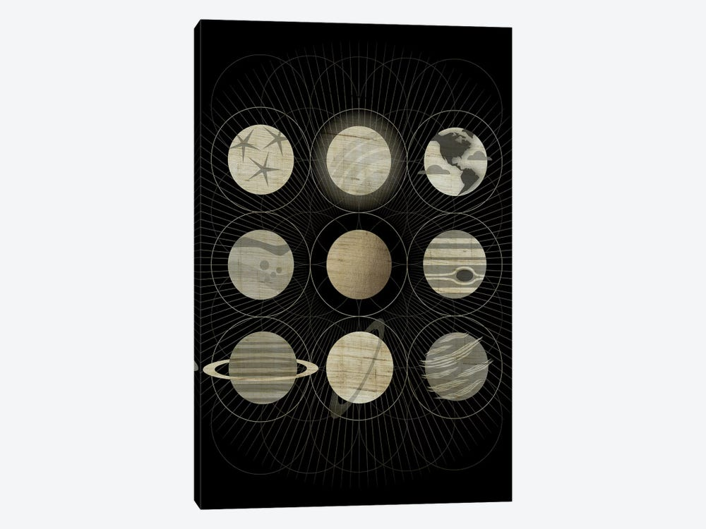 Planets by Chhaya Shrader 1-piece Canvas Artwork
