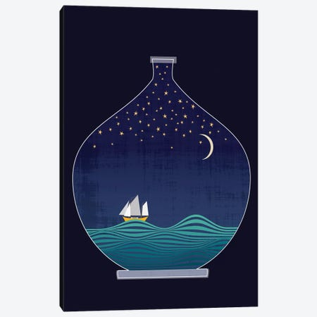 Ship In A Bottle Canvas Print #CHH24} by Chhaya Shrader Canvas Print