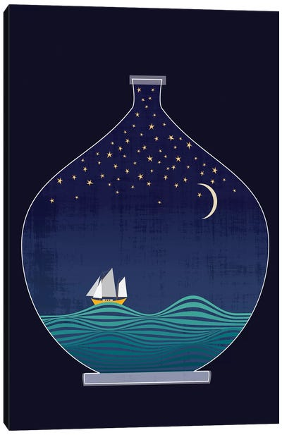 Ship In A Bottle Canvas Art Print