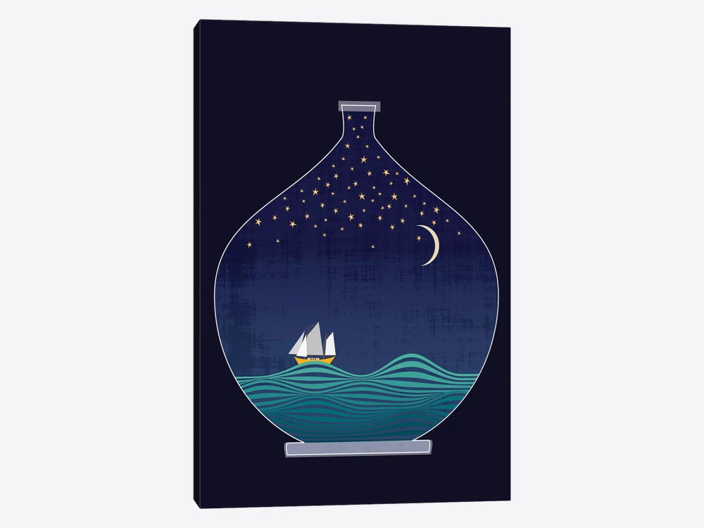 Ship In A Bottle by Chhaya Shrader 1-piece Canvas Art Print
