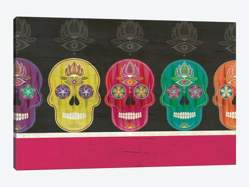 Skulls by Chhaya Shrader 1-piece Canvas Artwork