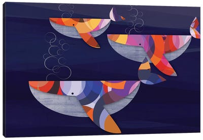 Whales Canvas Art Print