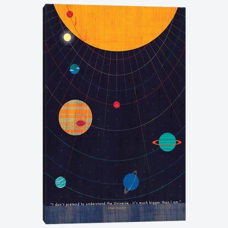 Einstein Universe Quote Canvas Print #CHH38} by Chhaya Shrader Canvas Print