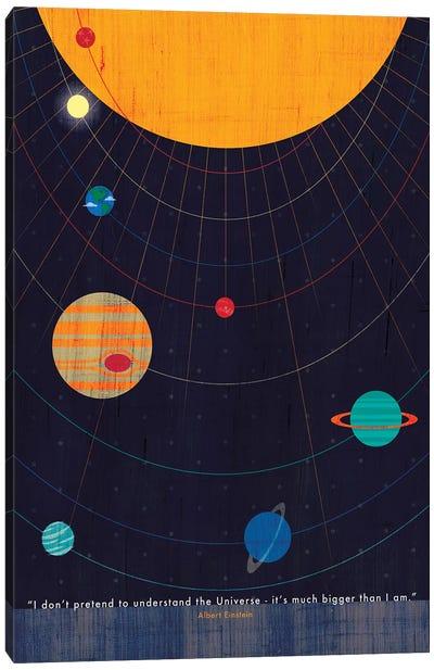Einstein Universe Quote Canvas Art Print