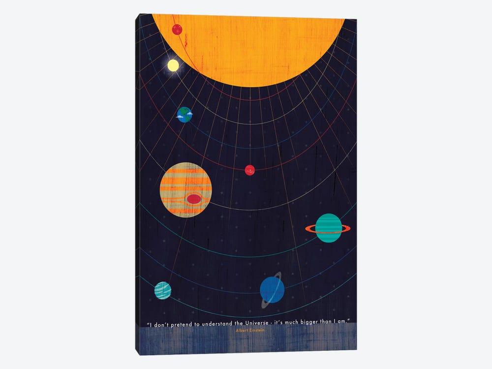 Einstein Universe Quote by Chhaya Shrader 1-piece Canvas Artwork