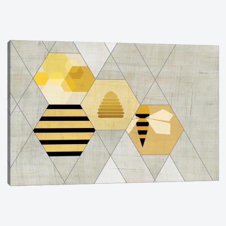 Bees II Canvas Print #CHH3} by Chhaya Shrader Art Print