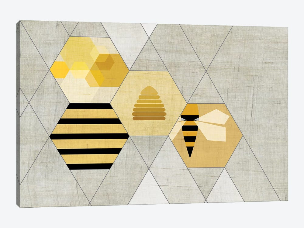 Bees II by Chhaya Shrader 1-piece Canvas Print