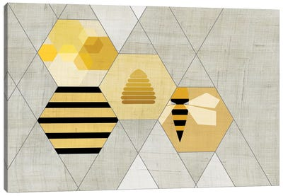 Bees II Canvas Art Print