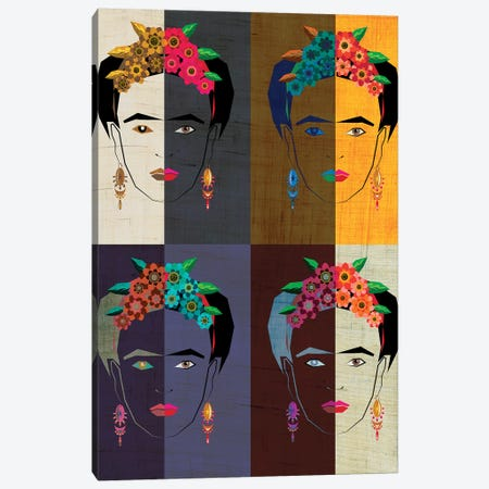 Frida II Canvas Print #CHH40} by Chhaya Shrader Canvas Artwork