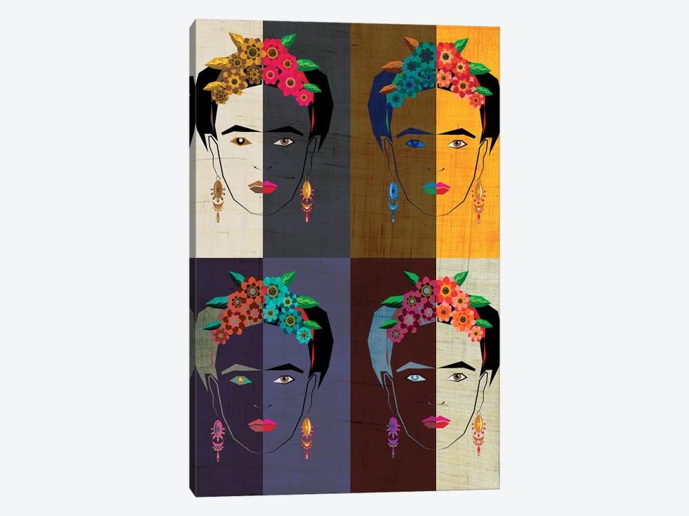 Frida II by Chhaya Shrader 1-piece Canvas Art Print