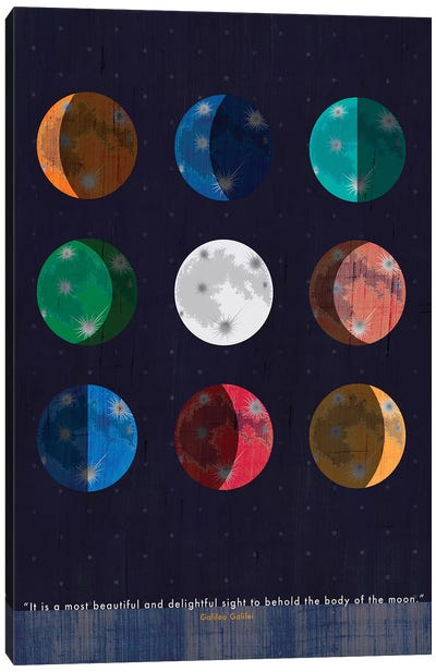 Galileo Moon Quote Canvas Art Print