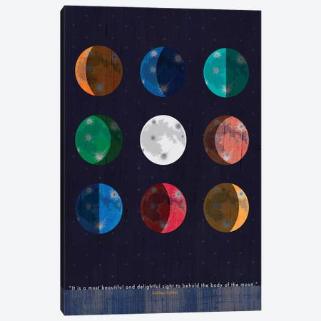 Galileo Moon Quote Canvas Print #CHH41} by Chhaya Shrader Canvas Artwork