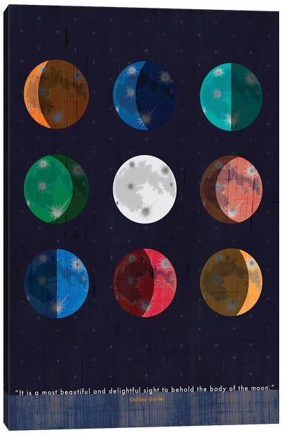 Galileo Moon Quote Canvas Art Print