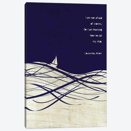 Louisa May Alcott Storms Quote Canvas Print #CHH47} by Chhaya Shrader Art Print