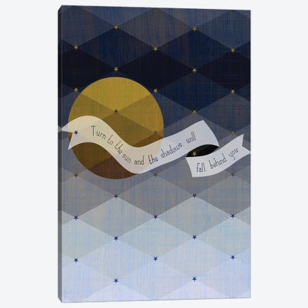 Maori Shadows Proverb Canvas Print #CHH48} by Chhaya Shrader Canvas Wall Art