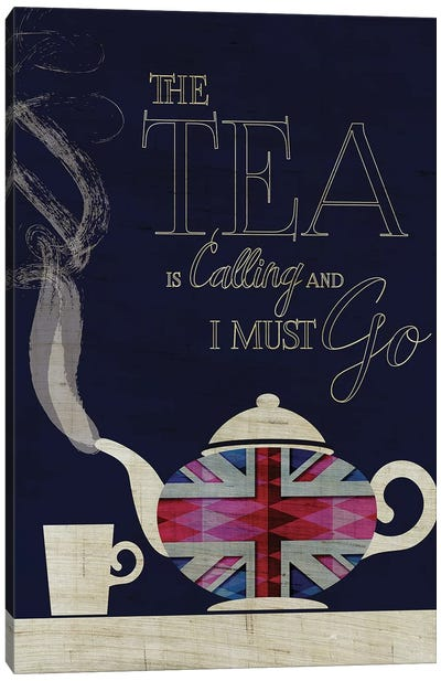 The Tea Is Calling, Union Jack Canvas Art Print