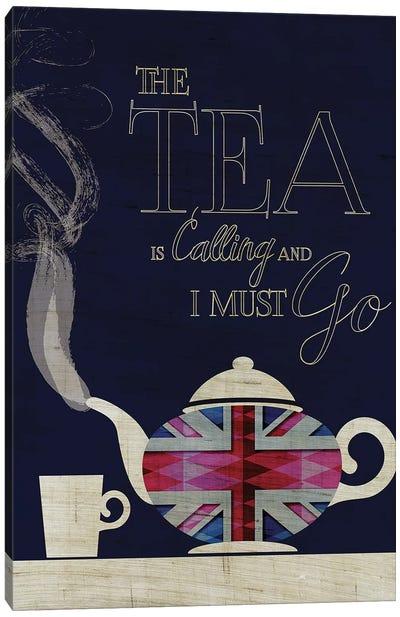The Tea Is Calling, Union Jack Canvas Art Print