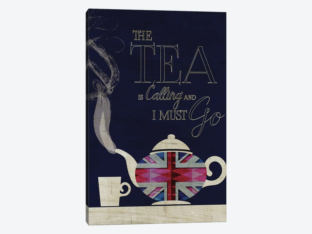 The Tea Is Calling, Union Jack by Chhaya Shrader 1-piece Canvas Artwork