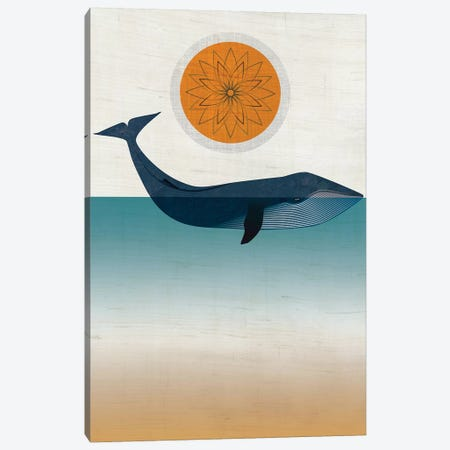 Blue Whale Canvas Print #CHH5} by Chhaya Shrader Canvas Artwork