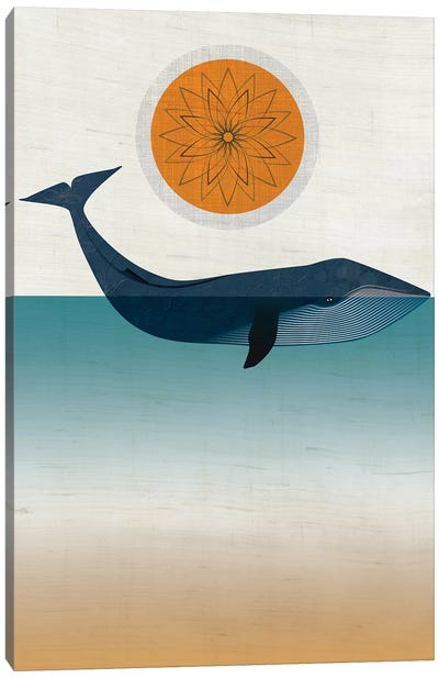 Blue Whale Canvas Art Print