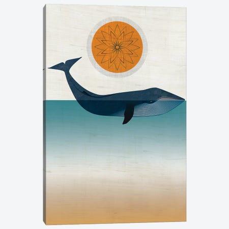 Blue Whale Canvas Print #CHH5} by Chhaya Shrader Canvas Artwork