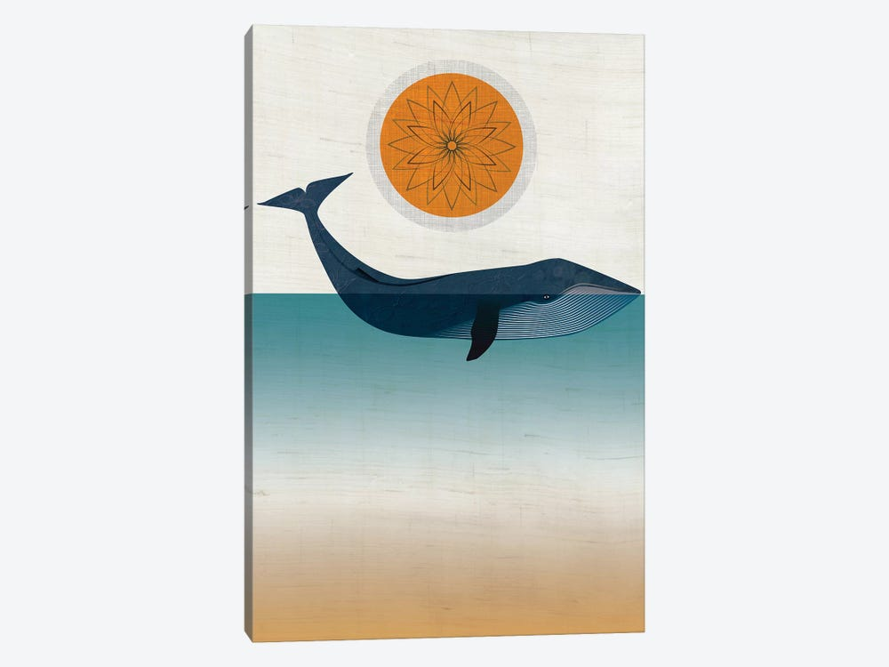 Blue Whale by Chhaya Shrader 1-piece Canvas Art Print