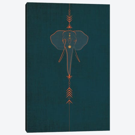 Elephant Canvas Print #CHH8} by Chhaya Shrader Art Print