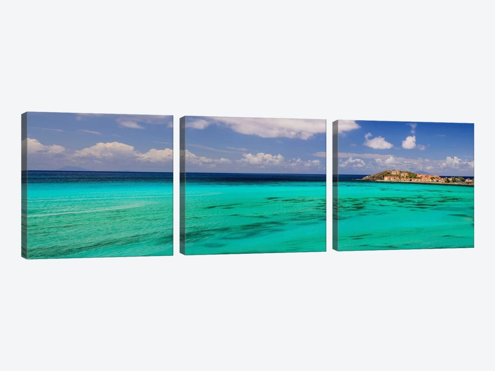 Caribbean Waters by Chuck Burdick 3-piece Canvas Artwork