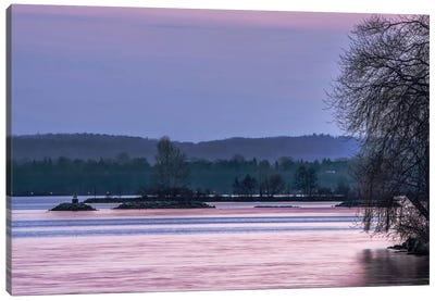 Evening On The Bay Canvas Art Print