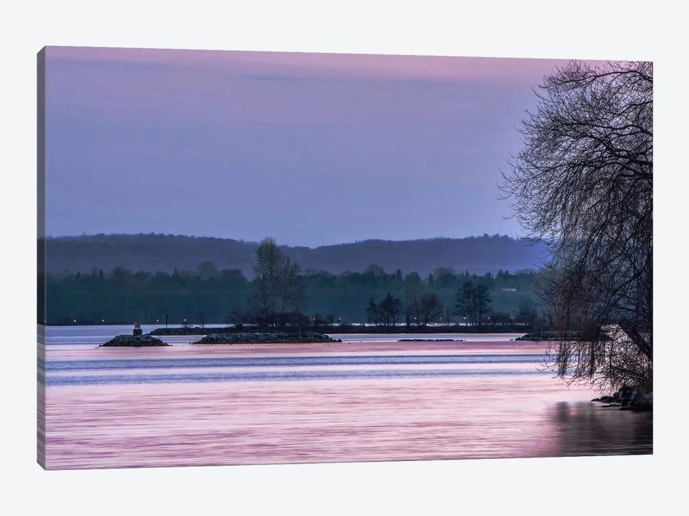 Evening On The Bay by Chuck Burdick 1-piece Canvas Print