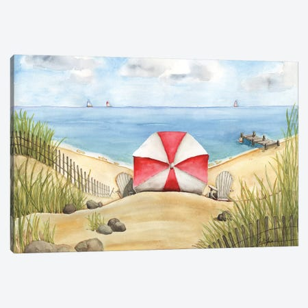 Beach Bliss Canvas Print #CHM1} by Carol Halm Canvas Art