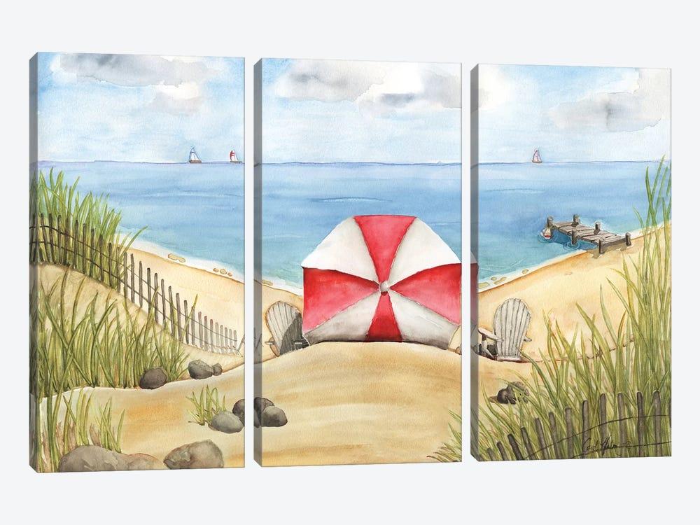 Beach Bliss by Carol Halm 3-piece Canvas Art