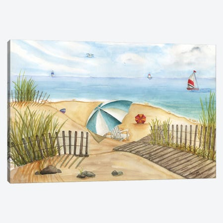 Beach Interlude Canvas Print #CHM2} by Carol Halm Canvas Wall Art