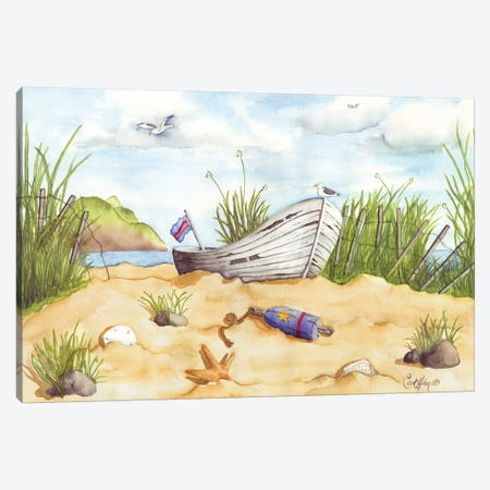Beach Treasures Canvas Print #CHM3} by Carol Halm Canvas Art