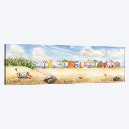 Building Sand Castles Canvas Print #CHM5} by Carol Halm Canvas Print