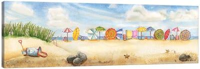 Building Sand Castles Canvas Art Print