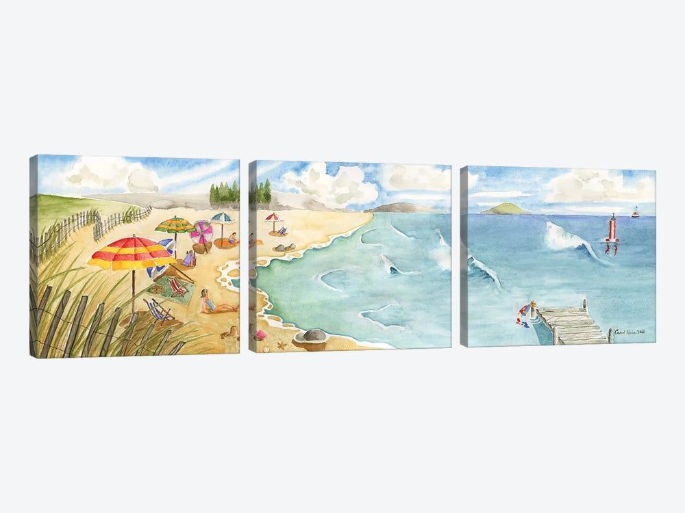 Sand and Surf by Carol Halm 3-piece Canvas Print