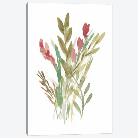 Farmhouse Florals IV Canvas Print #CHP13} by Marcy Chapman Art Print