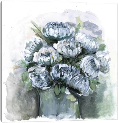 Potted Chrysanthemums Canvas Art Print