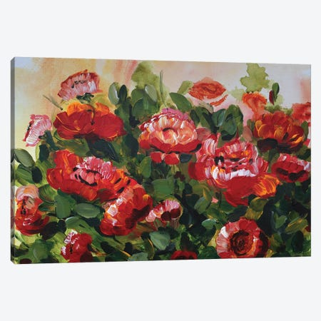 Red Poppies Garden Canvas Print #CHP18} by Marcy Chapman Canvas Print